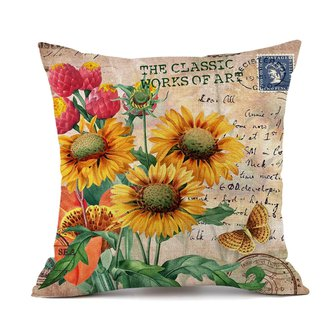 Vintage Backrest Pillow Cover