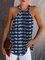 Blue Halter Tie-Dyed Sleeveless Vests