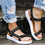 Women Casual Summer Daily Comfy Magic Tape Sandals