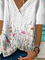 White Floral Casual Cotton Shirts & Tops