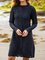 Black Shift Long Sleeve Dresses