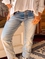 Plus size Solid Casual Jeans