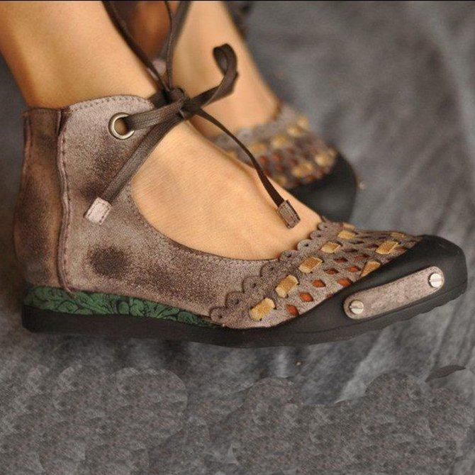 Sweet Shoes Women Bowknot Flats Shoes Round Toe Shoes Solid Color Flats Shoes Women Vintage Footwear