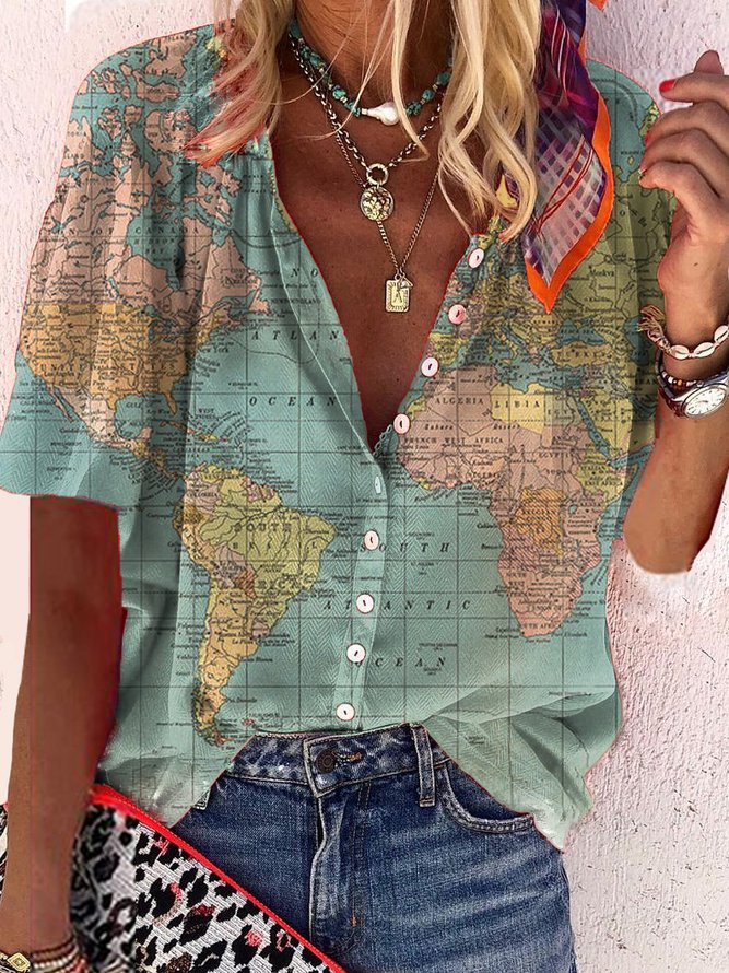 Plus-size printed shirt with ...