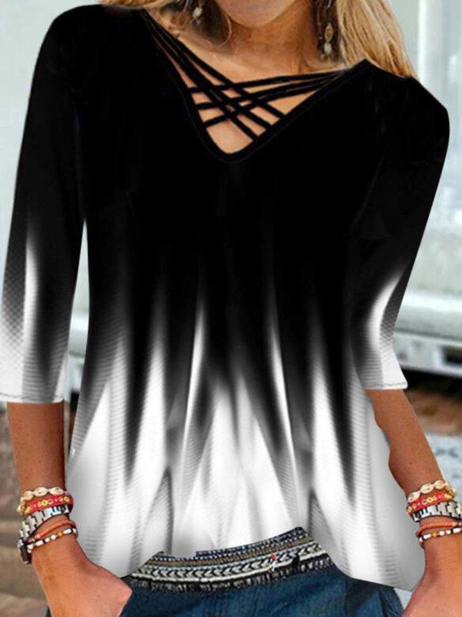 Neck Cotton-Blend Shirts & To...