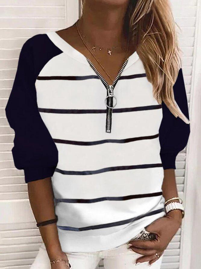 Long Sleeve Striped Shirts & ...