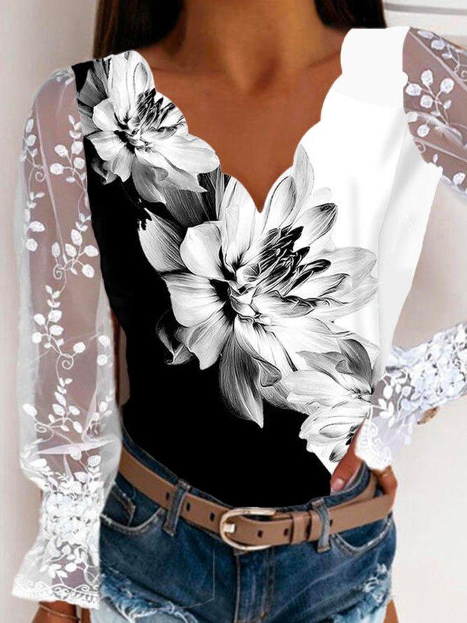 Boho Long Sleeve Shirts & To...