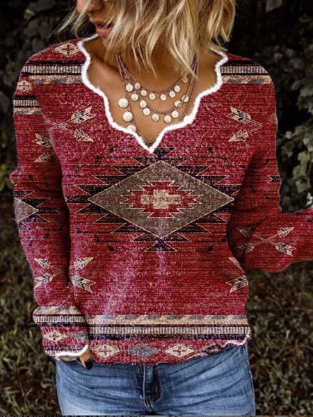 V-neck Vintage Tribal Shirts ...