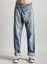 Women Casual Daily Denim Trousers