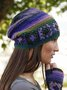 Women Color-Block Casual Knitted Hats