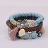 Ethnic Tassel Crack Bead Multilayer Combination Bracelet