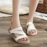 Pi Clue Summer Date Leather Slippers
