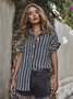 Striped Casual Shift Shirts & Tops