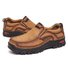 Men Non Slip Wear Resistant Outdoor Casual Leather Shoes