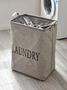 Slogan Print Laundry Storage Basket 1pc