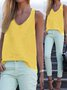 Woman Fashion Casual Sleeveless Crew Neck Tanks