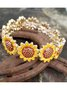 Yellow Alloy Casual Bracelets