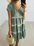 Green Casual Short Sleeve Dresses