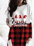 Women's Santa Claus Christmas Printed T-shirt