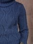 Solid Long Sleeve Shift Wool Blend Sweater