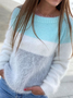 Plus size Striped Casual Sweater