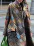 Plus size Geometric Printed Casual Outerwear