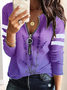 Plus size Lavender Casual Shirts & Tops
