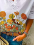 Plus size Coreopsis Printed Shirts & Tops