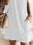 Plus Size Vintage Boho Holiday Shift Casual Short Sleeve Simple Dresses
