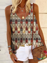 Cotton Cold Shoulder Casual Tribal Shirts & Tops
