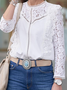 Long Sleeve Boho Paneled Shift Shirts & Tops