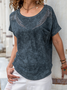 Short Sleeve Casual Crew Neck Shirts & Tops