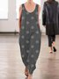 Black Sleeveless Polka Dots Round Neck Jumpsuits