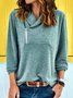 Statement Wool Blend Shawl Collar Shift Shirts & Tops